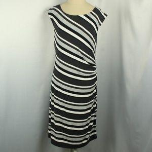 Ann Taylor Loft Sleeveless Striped Dress
